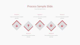 粉红色并列关系PPT图表-7