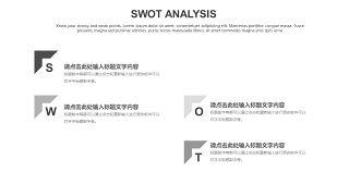 灰色SWOT分析图表-11