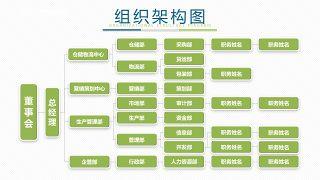 绿色组织结构PPT图表-14