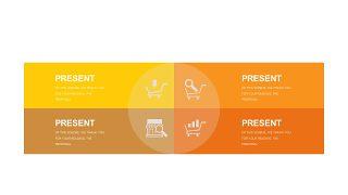 橙色系并列关系PPT图表-26
