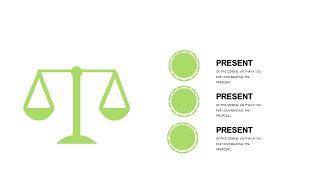 小清新绿色商务PPT图表-22