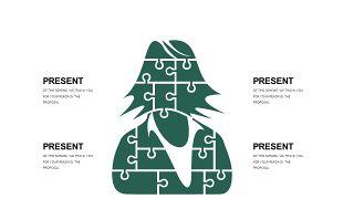 墨绿色创意设计PPT图表-16