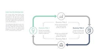 清新四项并列关系PPT图表-8