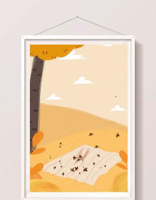 天气树木插画设计