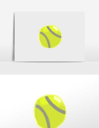 清新唯美手绘户外运动网球元素背景