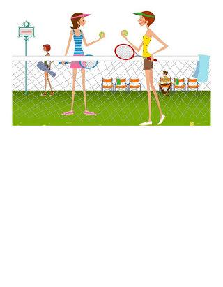 运动员打网球音效