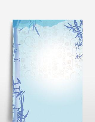 夏季新品竹子设计背景