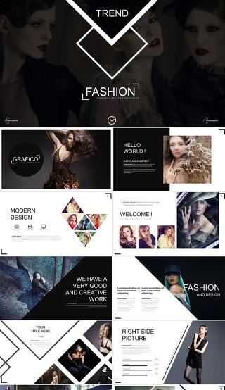 时尚品牌宣传推广策划营销介绍PPT模版