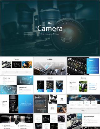 摄影相机产品介绍产品发布简约稳重大气