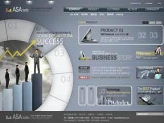 国外金融网站模板psd分层素材