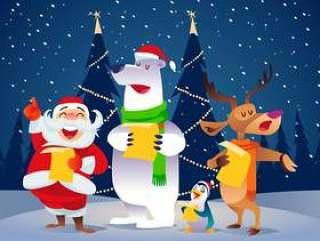 圣诞颂歌矢量