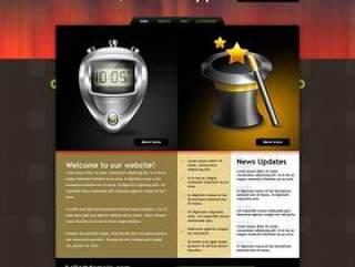 欧美风格企业网站模板