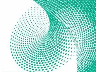 在抽象风格的绿色半色调点