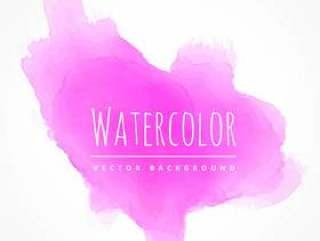 粉红色水彩污渍纹理矢量设计插画