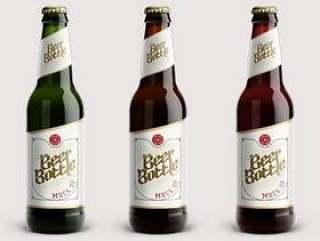 啤酒瓶Psd模拟模板Vol2