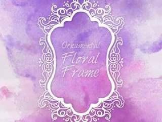 花纹框架紫色背景