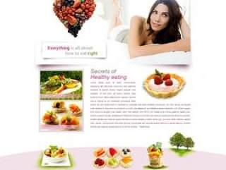 经典国外女性水果护肤网站PSD分层素材