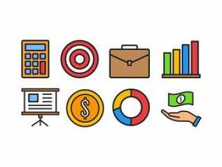 商业和金融图标包