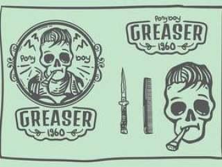 加油机头骨涂鸦标志