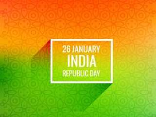 1月26日共和国日矢量设计插画