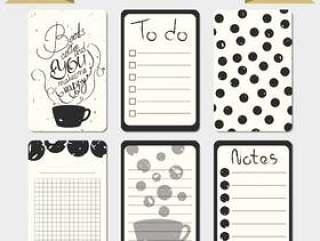 可打印日记卡。时尚待办事项列表。