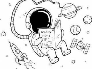 宇航员手绘