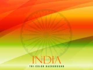 印度传染媒介设计例证三色背景