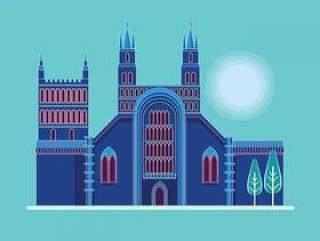 图克斯伯里修道院,格洛斯特郡,英国的插图