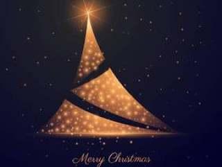 美丽的黑暗背景与创意圣诞树设计