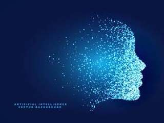 用于人工智能的粒子数字人脸概念设计