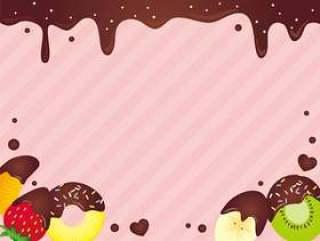 巧克力悬崖框架粉红色