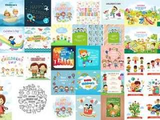 100+款儿童节主题矢量素材打包下载