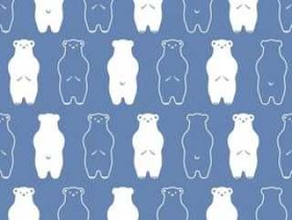 熊无缝图案背景