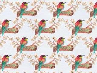 矢量无缝模式与分支上的鸟