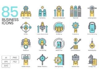 85业务矢量图标各种业务情况,85业务图标|水族