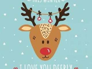 我爱你鹿矢量卡