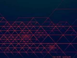 在黑暗的背景上的抽象几何三角线