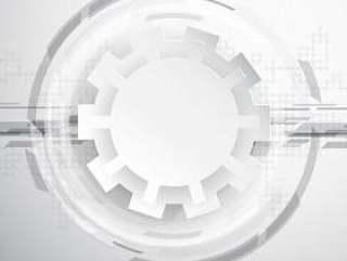 抽象的技术背景与齿轮