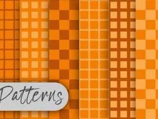 橙色立方体样式集合