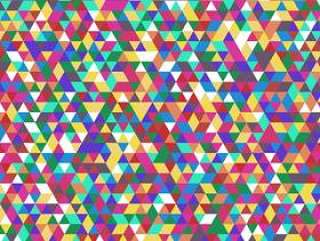 抽象三角形图案