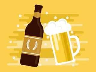 帝国苍白啤酒啤酒矢量图