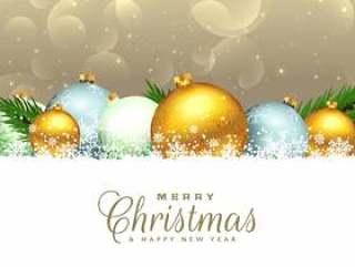 圣诞季节性背景与装饰元素