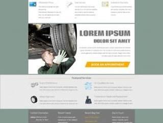 国外经典汽配类网站PSD分层素材