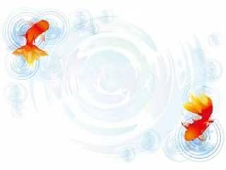 金鱼银杏银杏夏季节日初夏背景图片的夏天