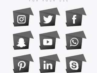 黑暗的社交媒体集合