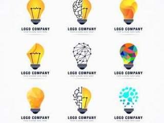 想法idear电灯标志矢量素材 下载