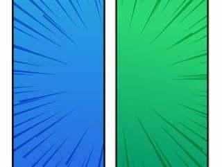 蓝色和绿色的漫画风格横幅设计