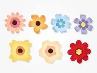 Grunge纹理的花