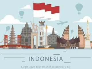 印度尼西亚独立日平的样式的问候