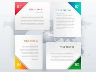 四个选项横幅设计用不同的颜色